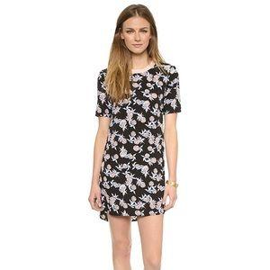 WAYF black pineapple print shift dress